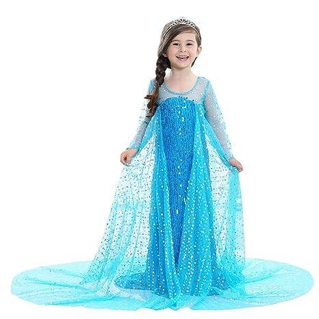 4255fa6ca0547 UR Fashion 子供ドレス プリンセスドレス お嬢様ワンピース キッズ エレガント 可愛い なりきりコスプレ 2層構造