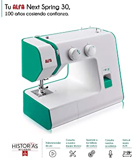 Alfa Hogar Maquina De Coser Next 30 Spring Zig-Zag.Domestica, Verde Esmeralda, 30 X 19 X 37…