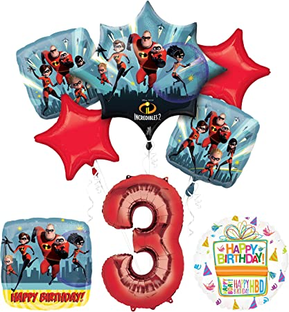 Incredibles Party Supplies 8 Guests Birthday Balloon Bouquet Decorations Mayflower