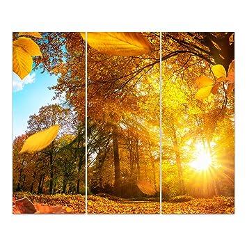 Dekoglas Glasbild Goldener Herbst Acrylglas Bild Kuche Wandbild