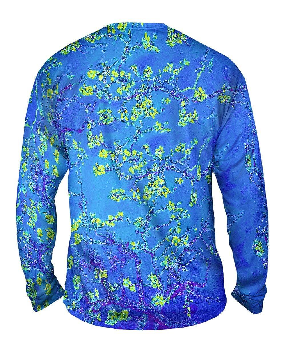 Pop Art Yizzam Van Gogh Blossoming Purpl Mens Long Sleeve 2316