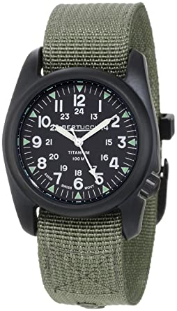 de4a73d5239 Image Unavailable. Image not available for. Color  Bertucci Men s 12028 A-2T  Vintage Durable Titanium Field Watch