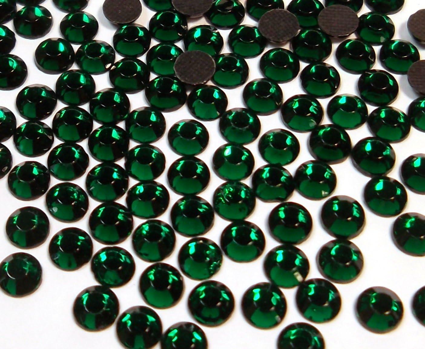Perlin – Piedras de estrás Hotfix, verde oliva, 1440 unidades, 6 mm SS30 para planchar, Hotglue, piedras brillantes, piedras de estrás, perlas de cristal