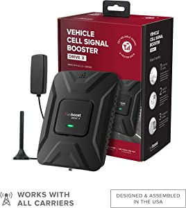 weBoost Drive X (475021) Vehicle Cell Phone Signal Booster | Car, Truck, Van, or SUV | U.S. Company | All U.S. Carriers - Verizon, AT&T, T-Mobile, Sprint & More | FCC Approved