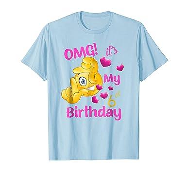 Mens Girls 6th Birthday Shirt