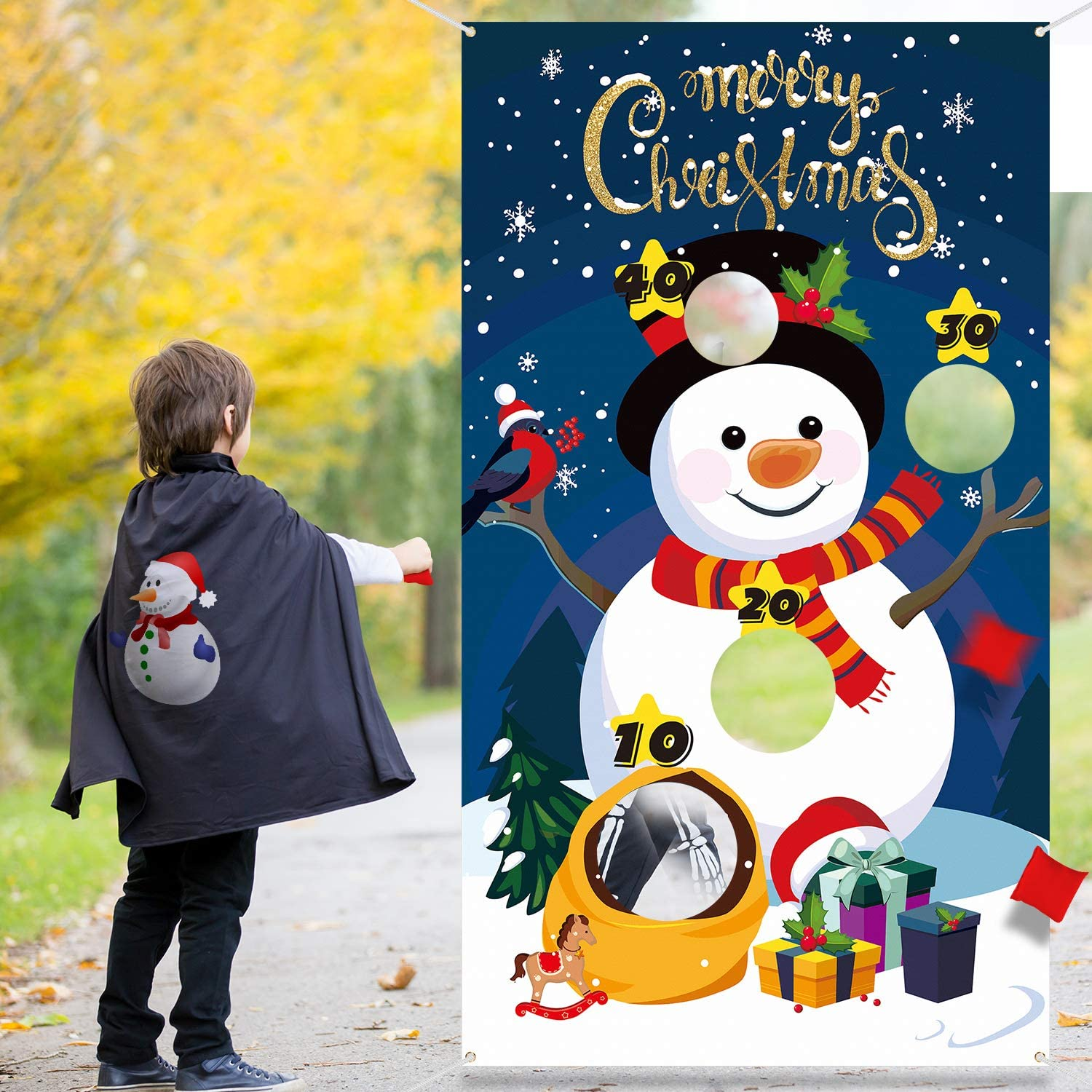 Amazon Com Christmas Snowman Toss Game With 3 Bean Bags Fun Indoor Outdoor Game For Kids And Adults In Christmas Party Activities Great Christmas Decorations And Supplies Christmas Snowman Toys Games