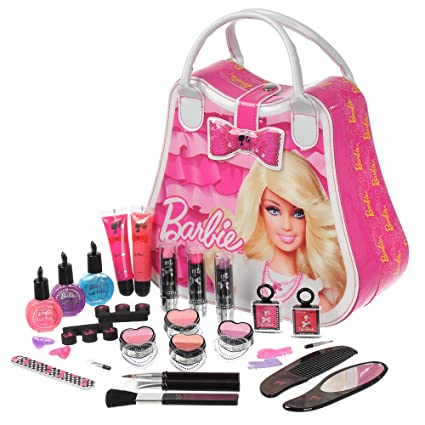 amazon com barbie kids cosmetic set makeup barbie makeup children