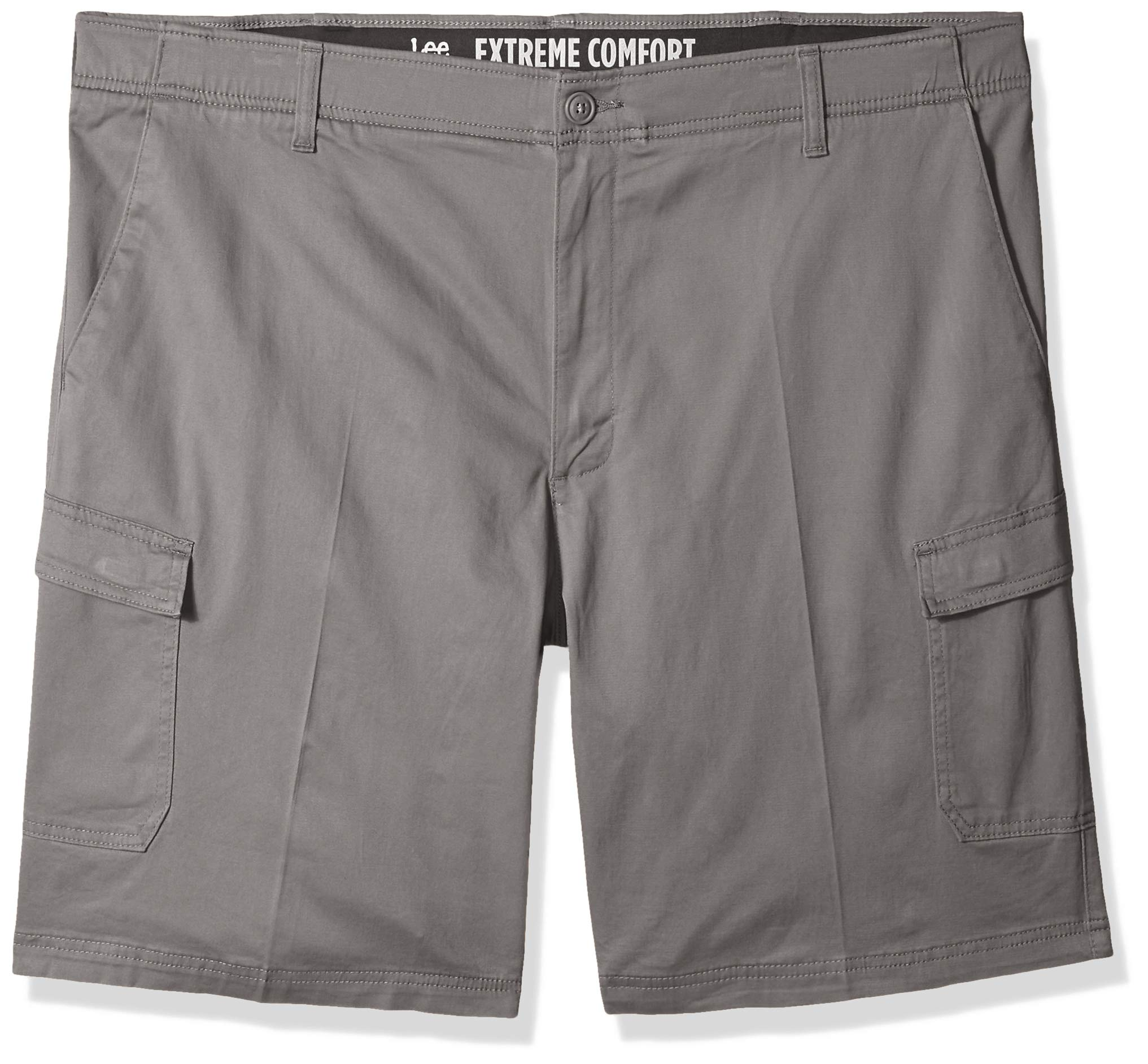 LEE Men's Big and Tall Big & Tall Peformance Series Extreme Comfort Cargo Short, Iron, 46