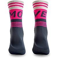 NORTEI Calcetines para Ciclismo, MTB y Running de Caña Alta para Hombre y Mujer – Move Pink