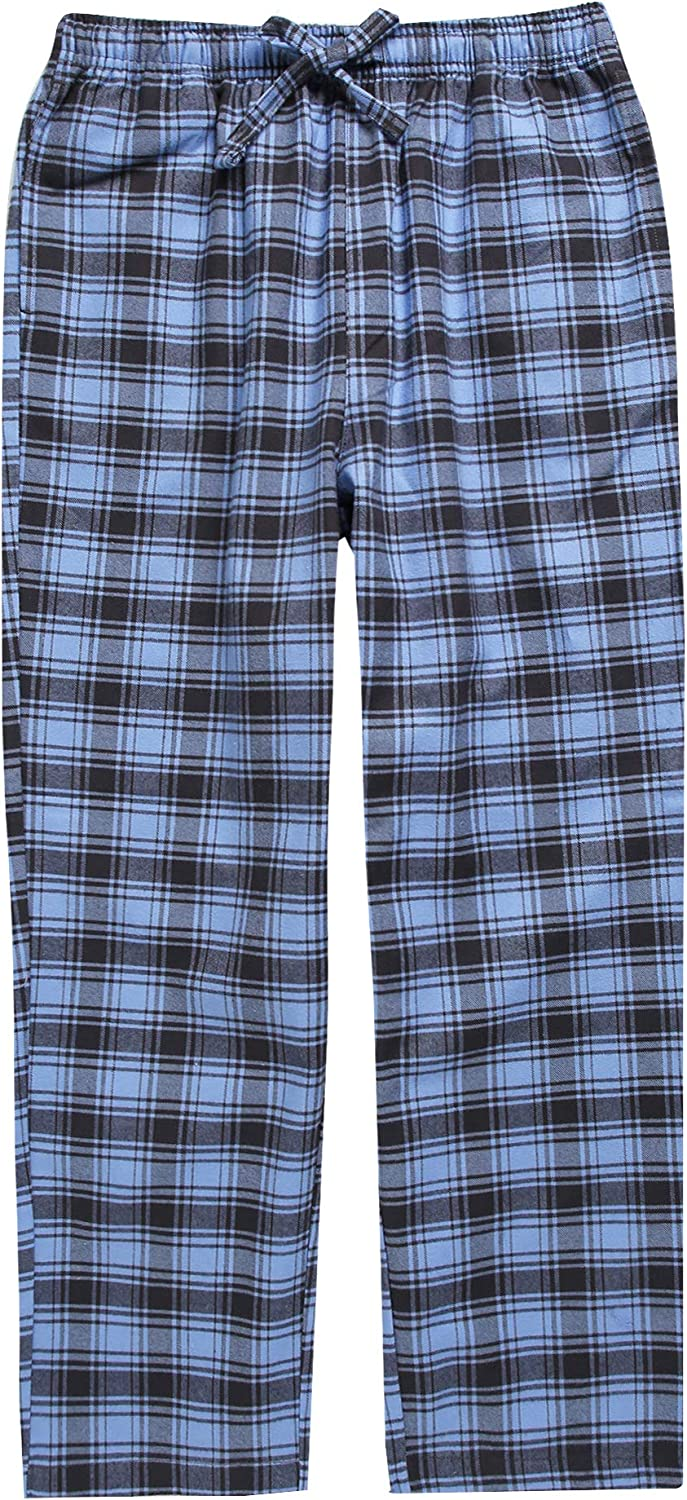 TINFL Plaid Check Ultra Soft 100/% Cotton Flannel Winter Long Drwastring Elastic Waistband Pants