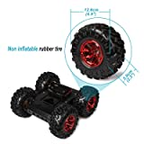 Red rubber tire 4WD Smart Car Chassis Kit - iron