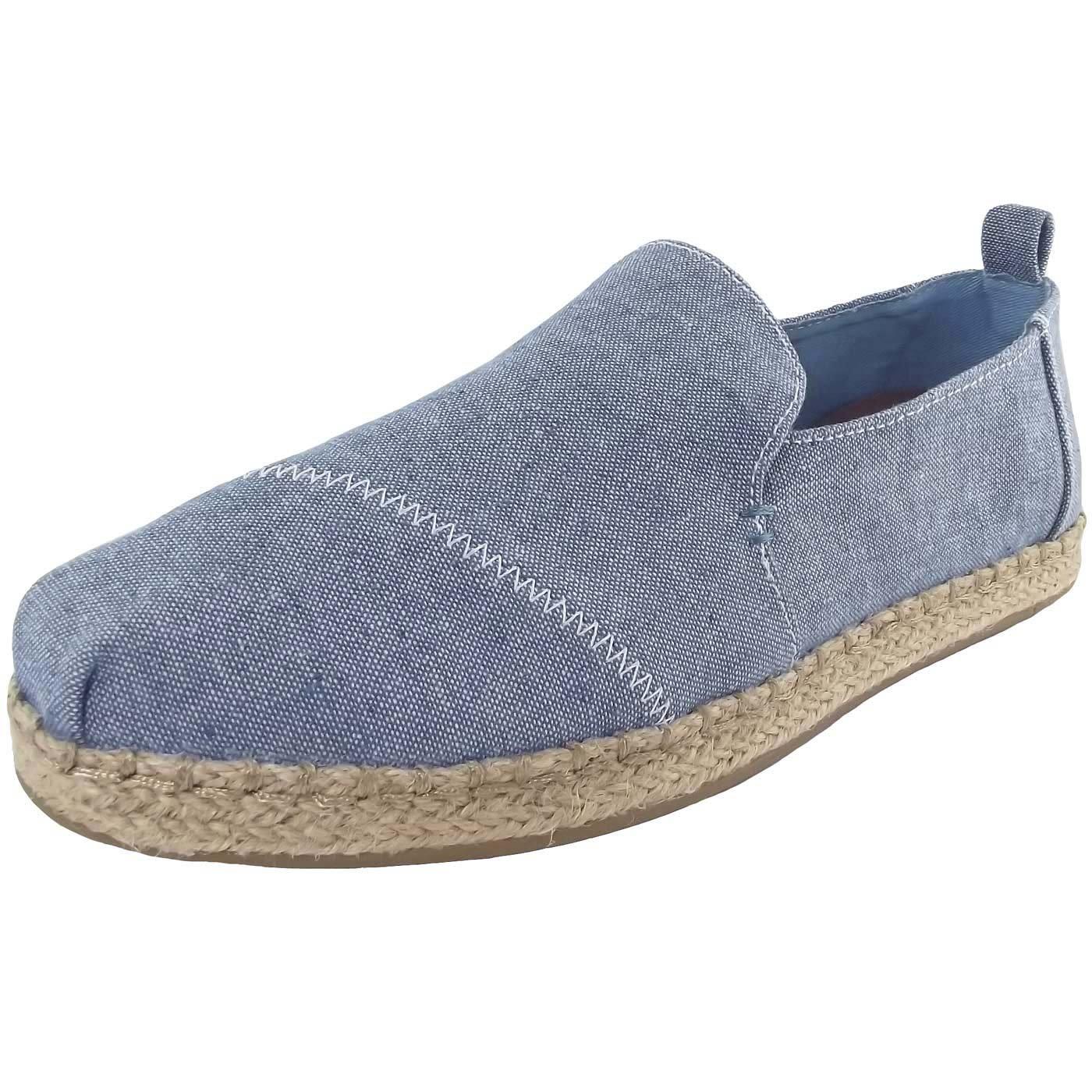 TOMS Women's Alpargata Casual Shoe Blue Slub Chambray 6