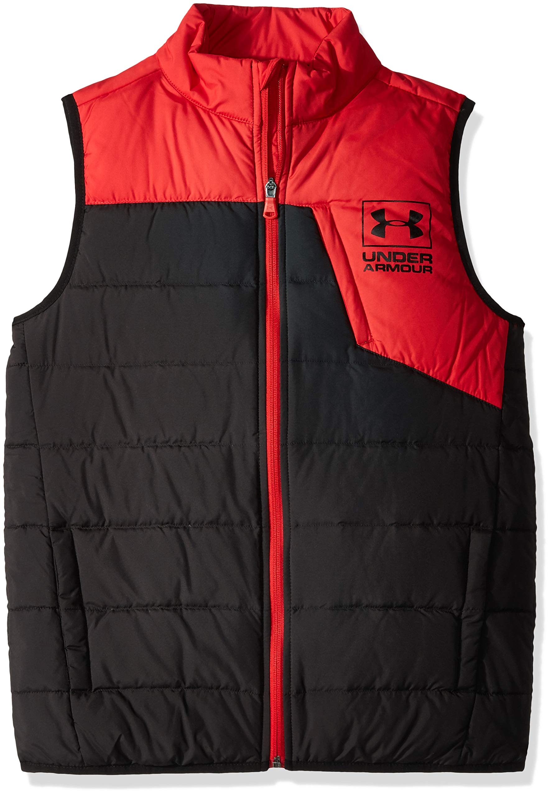 Under Armour Boys' Big Swarmdown Vest, red, Small (8) by Under Armour