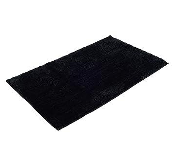 Gözze Tapis De Bain En Microfibre Polyester Noir 70 X 120 Cm