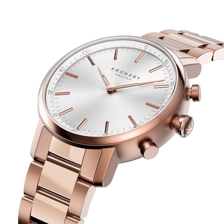 KRONABY Carat A1000-2446 - Reloj Inteligente híbrido para Mujer (Reloj Tradicional con Las capacidades de un Reloj Inteligente de 38 mm de diámetro, ...