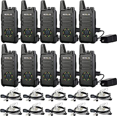 Retevis RT22S Two Way Radio FRS 22 Channel Lock Rechargeable Walkie Talkies Long Range for Adults VOX Security Emergency Alarm 2 Way Radios(10 Pack): Car Electronics