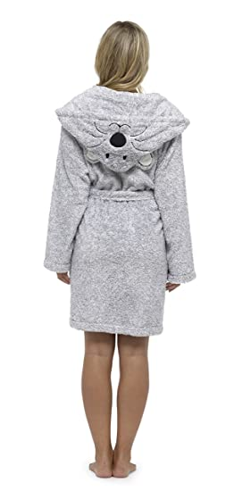 dressfan Adult Animal Hooded Robes Dress Gowns Flanella Pigiama Robes Inverno Caldo Donna//Donna