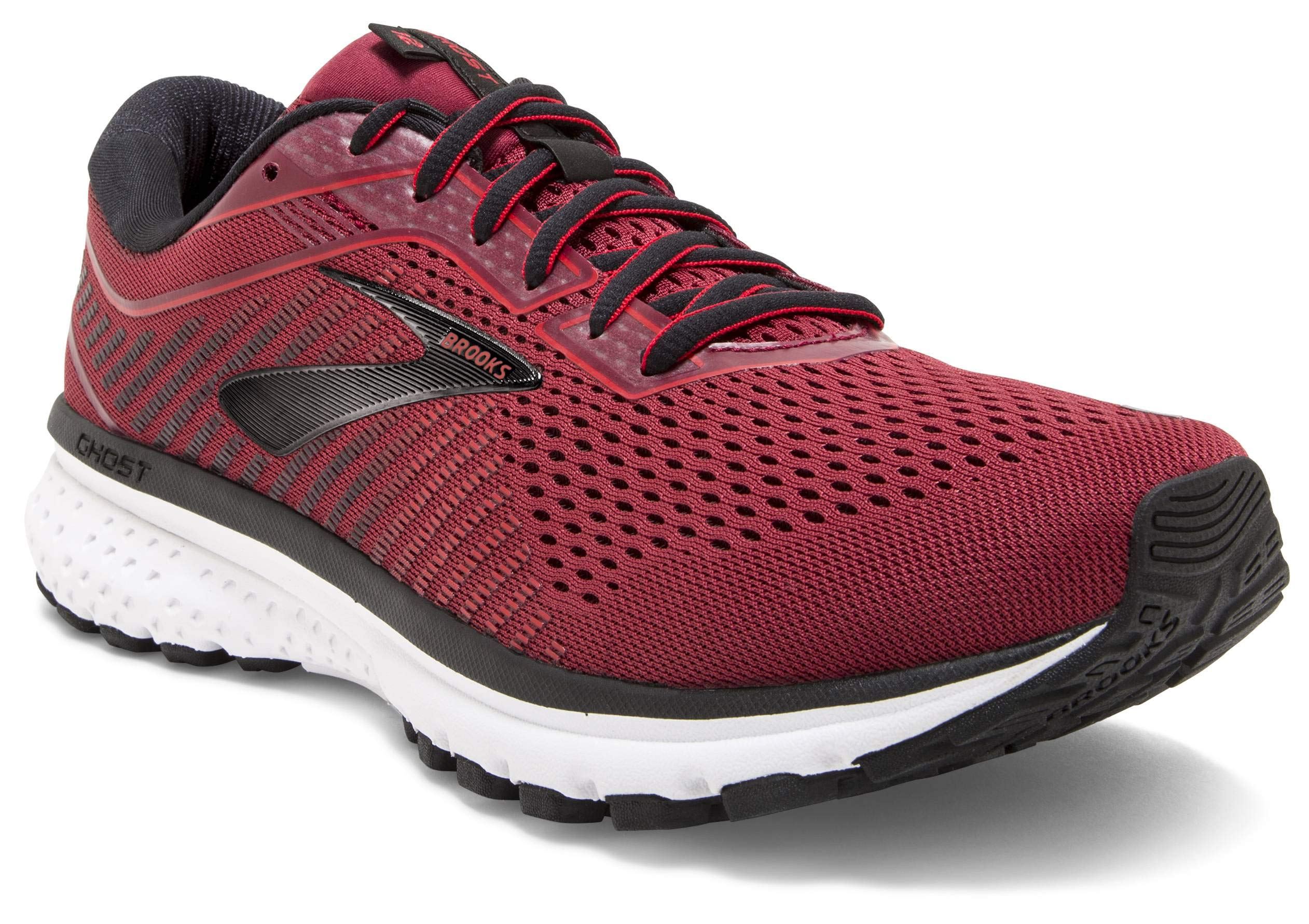 Brooks Men's Ghost 12 Red/Biking Red/Black 8 D US by Brooks