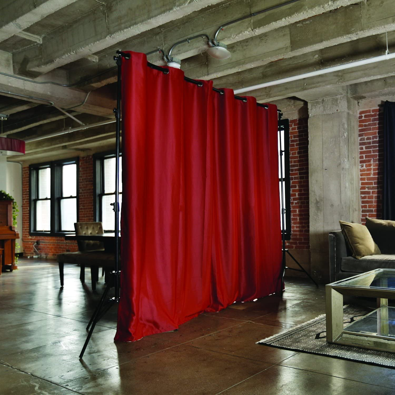 Room/Dividers/Now Freestanding Room Divider Kit - Small A, 8ft Tall x 7ft - 12ft 6in Wide (Sierra Red)