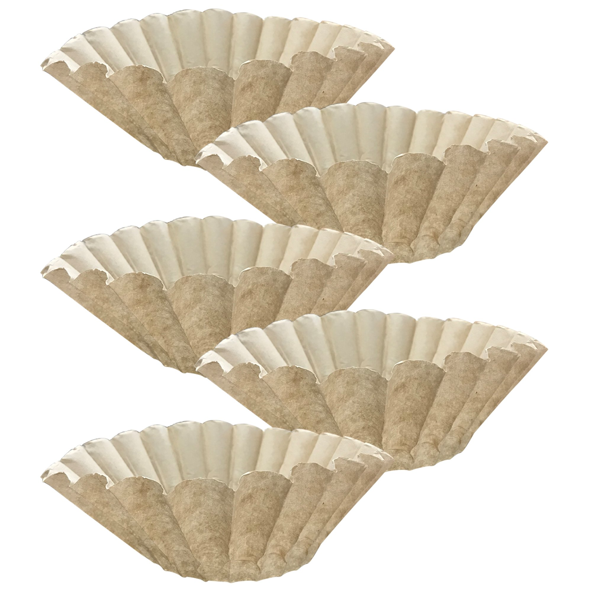 Think Crucial 500PK Replacement for Bunn Unbleached Paper Coffee, Filter Fits 12 Cup Commercial Coffee Brewers, Compatible with Part 1M5002 and 20115.0000, by Think Crucial
