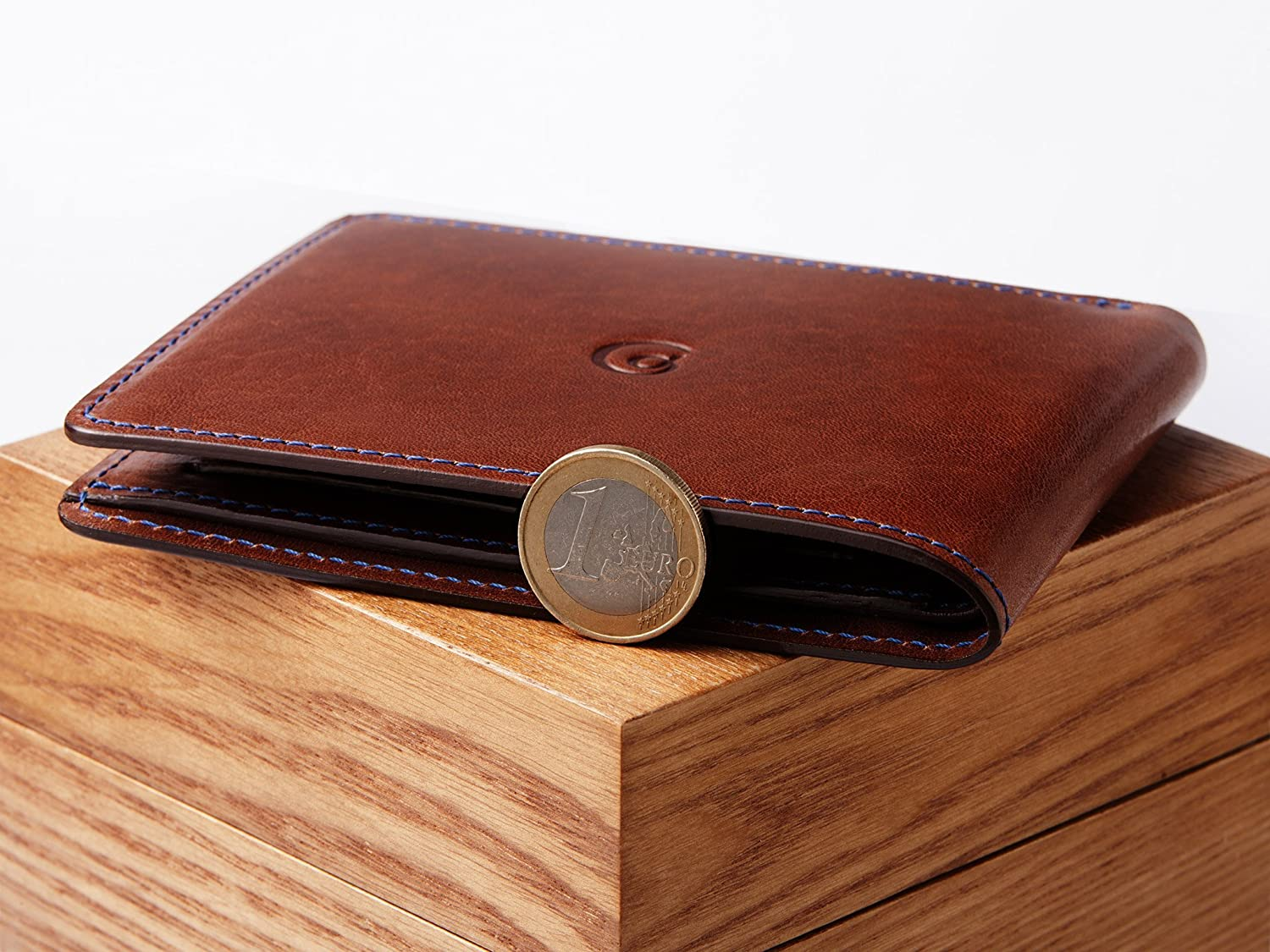 Leather Coin Wallet for Men by Danny P. (Dark brown)