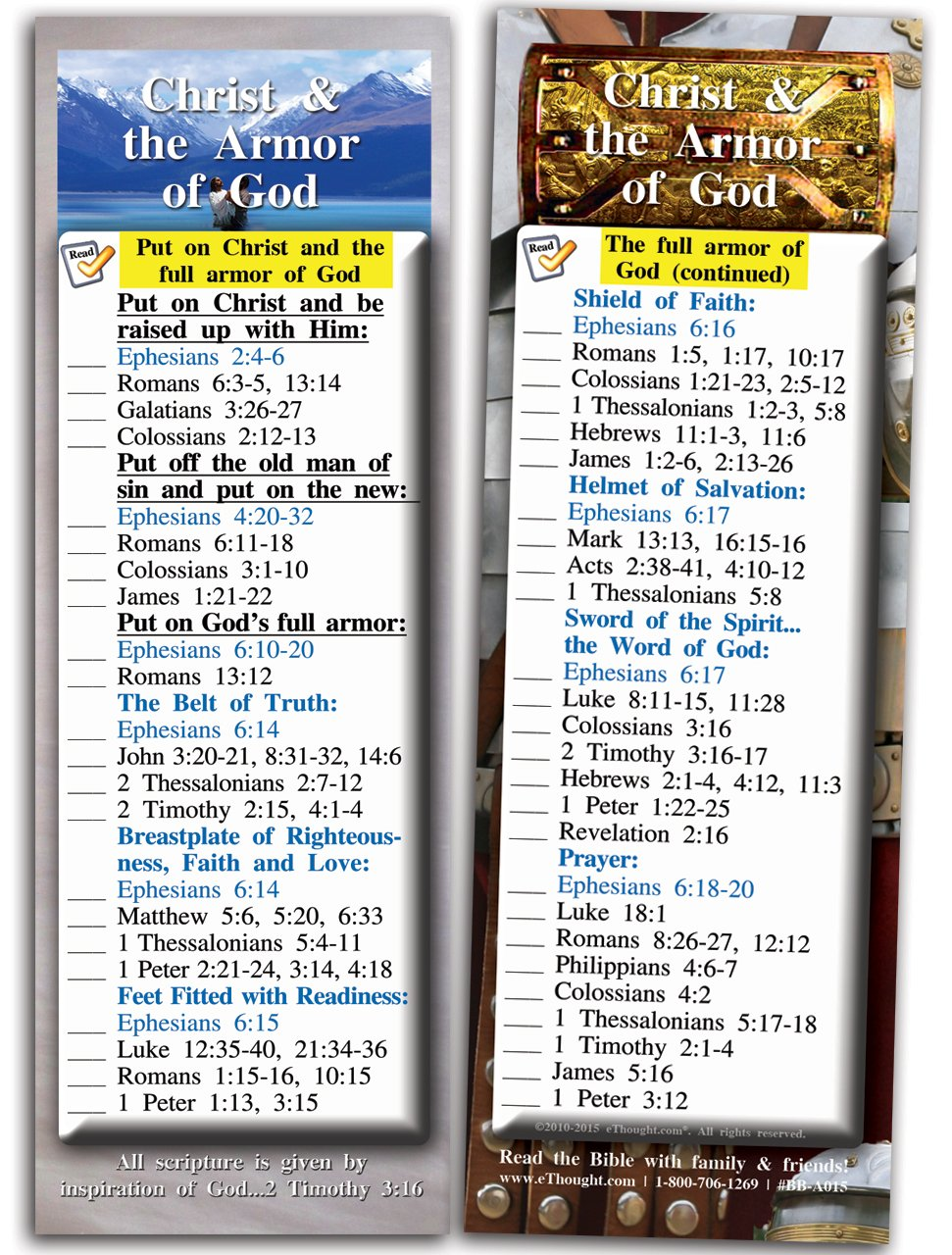 amazon com christ and the armor of god pack of 25 cards 2 75