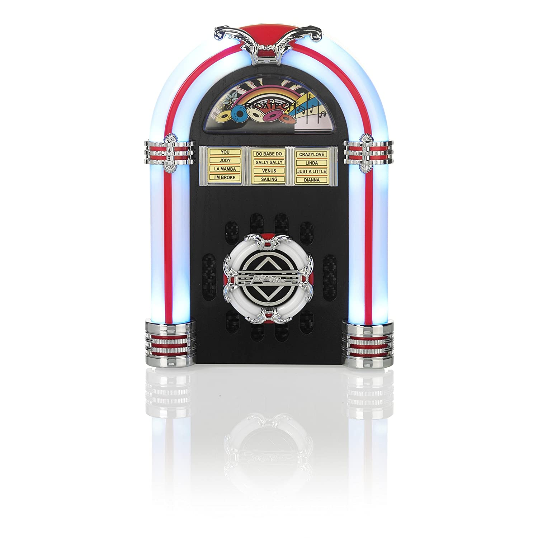 Dark Cherry Ricatech Table Top LED Jukebox