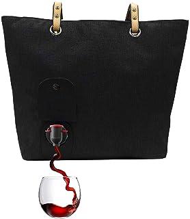 Amazon.com: Bolso de vino de piel premium para mujeres, 3 ...