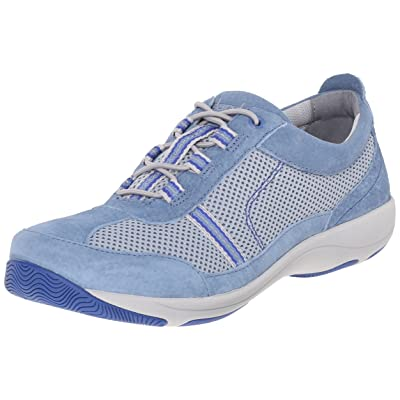 Dansko Women's Helen Light Blue Suede Fashion Sneaker