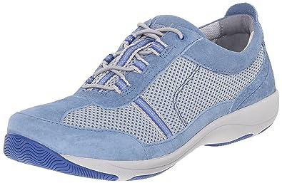 Dansko Women's Helen Fashion Sneaker, Light Blue Suede, 36 EU/5.5-6