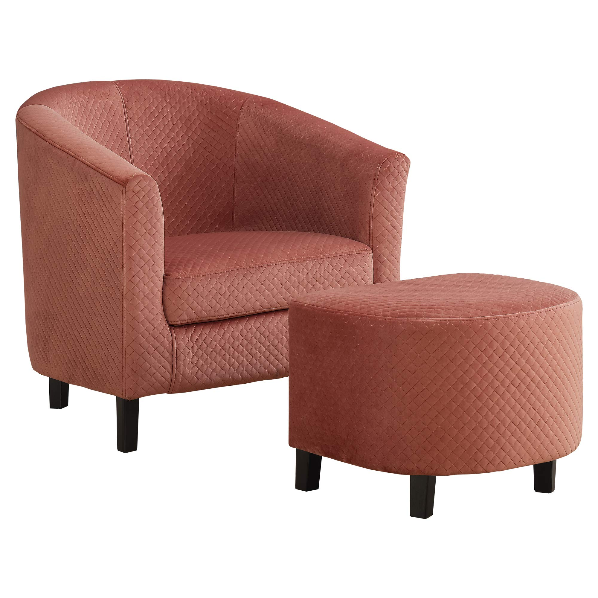 Monarch Specialties I I 8240 Accent Chair, Ottoman, Dusty Rose by Monarch Specialties
