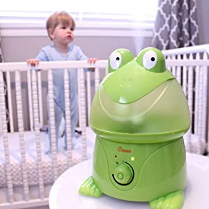 Crane Adorable Ultrasonic Cool Mist Humidifier - Frog