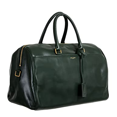 Image Unavailable. Image not available for. Color  Saint Laurent Women s  Forest Green Calfskin Leather Classic Duffle 12 Bag 4a534e457a