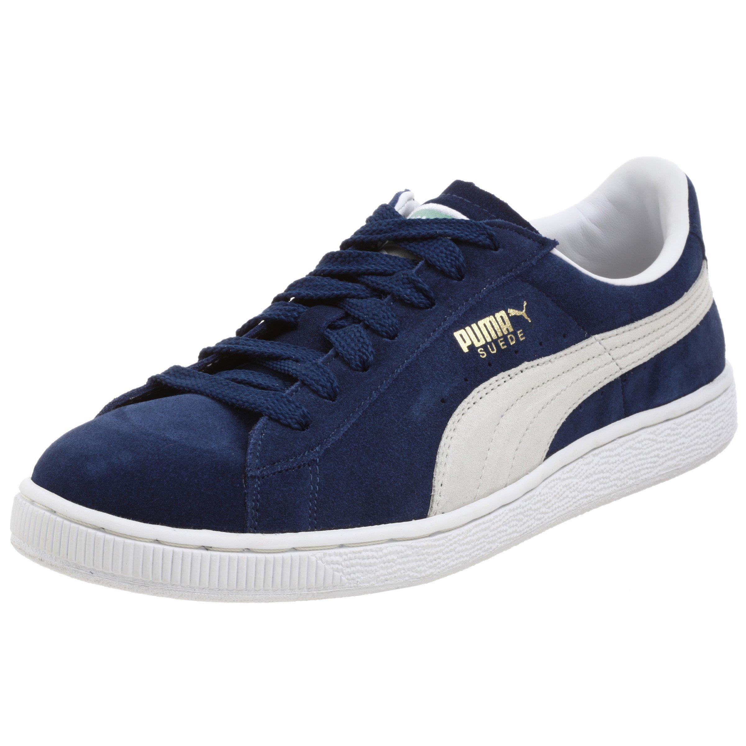 PUMA Suede Classic Sneaker,Blue/White,8 M US Men's