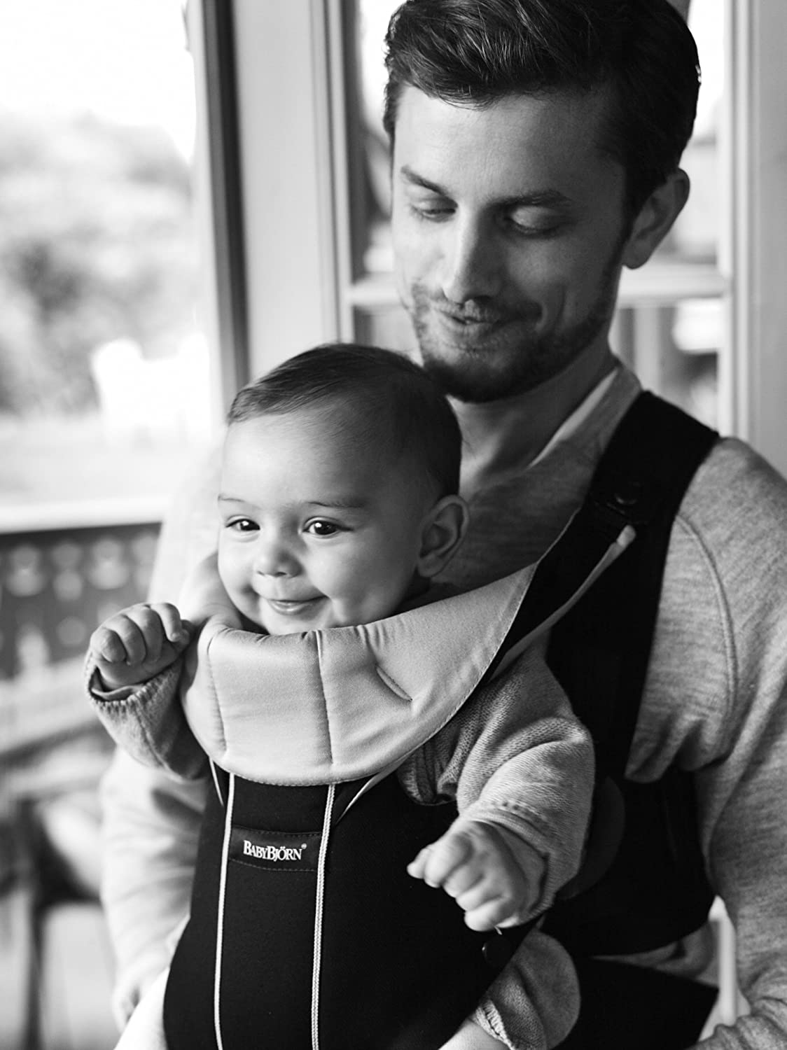 1f9defe656a Amazon.com   BABYBJORN Baby Carrier Miracle - Black Silver