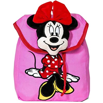 Disney Girls' Mickey Mouse & Friends Minnie Mouse Plush Backpack Fashionable Bag: Shoes