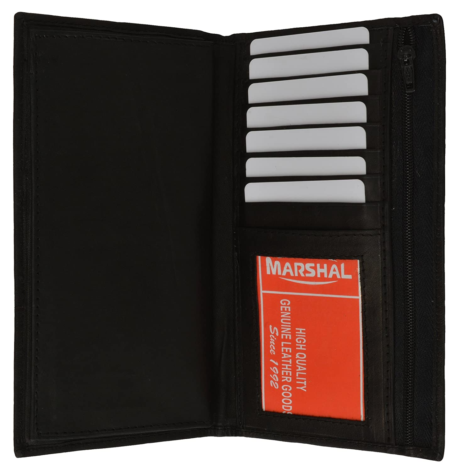 Genuine Leather Checkbook Cover Wallet Organizer with Credit Card ...