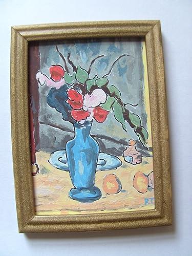 112th Scale Dollshouse French Oil The Blue Vase Cezanne Amazon