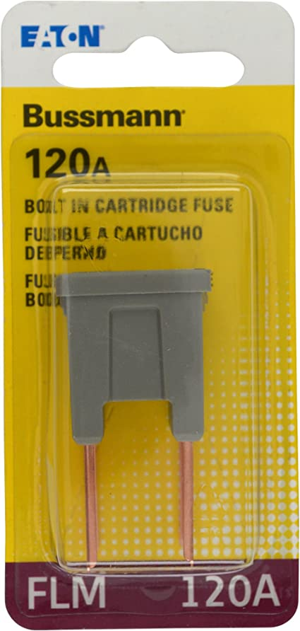 uxcell Automotive Cartridge Fuse 32V 120A Male Terminal Blade J Case Box for Car Truck Vehicle