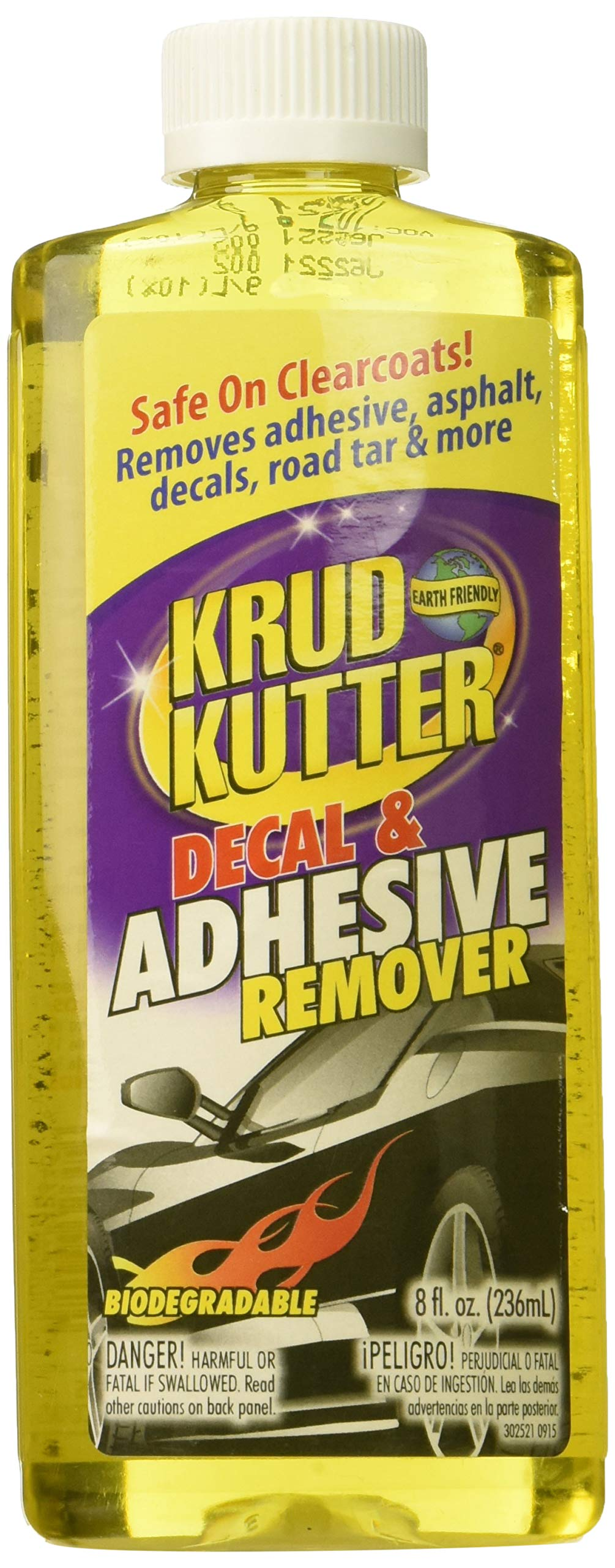 RUST-OLEUM PU086 Decal/Adhesive Remover, 8 oz