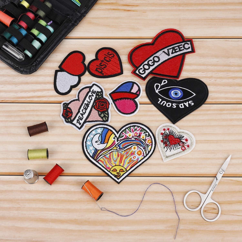 Parches Ropa Ojos Patch Sticker DIY Coser o Planchar en Los Apliques para Camiseta Jeans Sombrero Pantalon Bolsas 22 Piezas