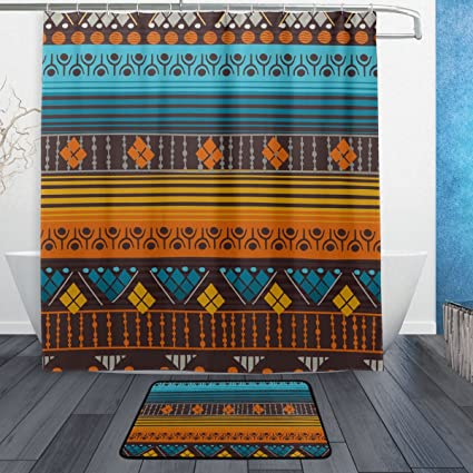 Image Unavailable Not Available For Color Super3Dprinted African Art Tribal Print Shower Curtain