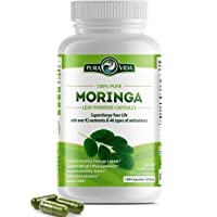 Organic Moringa Oleifera Powder Capsules: Natural Joint and Arthritis Pain Relief. Energy, Metabolism, and Immune Booster. Rich in Nutrients and Antioxidants. Non-GMO, Single Origin, 500mg Caps