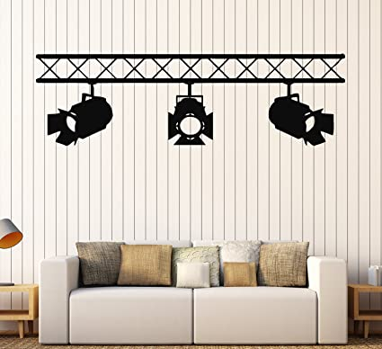 Wall stickers vinyl decal spotlights cinema cinematography decor film ig1607 xl 21 in