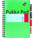 Pukka Pad B5 Metallic Project Book - 200 Pages, Wirebound Notebook ((Pack of 3))