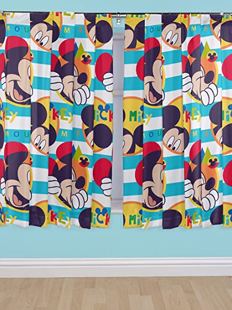 Disney 54 Inch Mickey Mouse Boo Curtains, Multi Colour