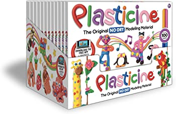 Kahootz Plasticine 12 units of 24 Color Rainbow Play Pack
