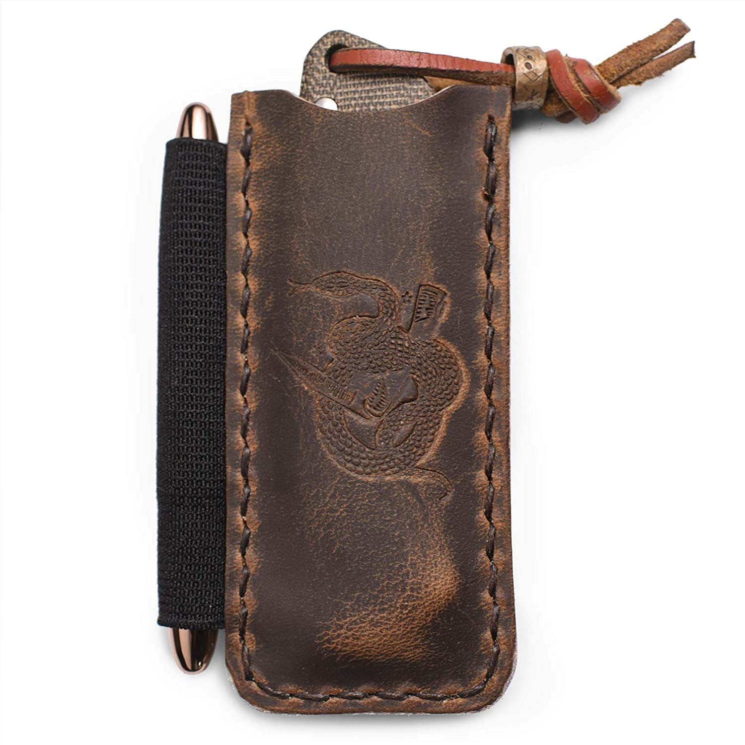 B078DRHTPY The Proper Slip by Hitch and Timber ~ Leather EDC Slip for Everyday Carry, Knife Sheath, EDC organizer, EDC Slip, Made in USA 81PgdNzqy1L
