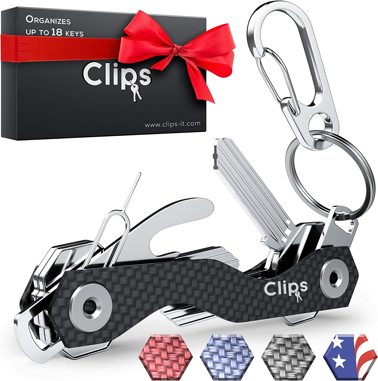 Clever Key Organizes To 12 Keys Smart Pocket Organizer USB FOB Reward Cards NEW