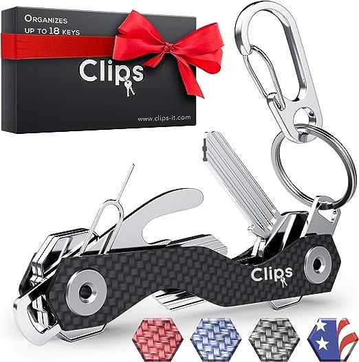 Amazon.com: Llavero con soporte para llaves compacto y ...